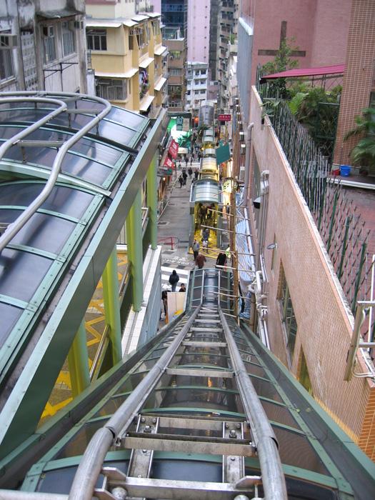 香港島のエスカレーター